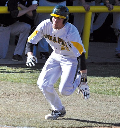 Courtesy/Yavapai Athletics<br>Sophomore Brock Hartley races toward home plate Wednesday afternoon at Roughrider Park in Prescott.