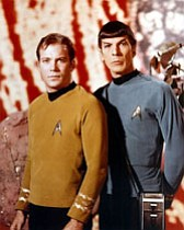 Courtesy Photo/Associated Press<br /><br /><!-- 1upcrlf2 -->William Shatner, left, as Capt. James Kirk stands with Leonard Nimoy, right, as Mr. Spock.