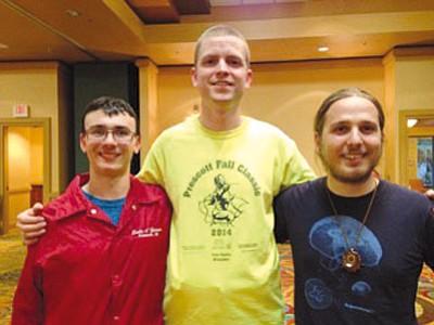 Courtesy photo<br>From left, Henry Villani, Joshua Bodine and Matt Brewer.