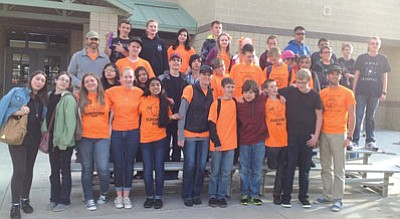 Mountain View Elementary, Glassford Hill Middle and Liberty Traditional Science Olympiad Teams. (Courtesy)