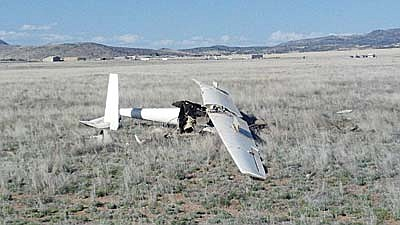 Courtesy/YCSO<br /><br /><!-- 1upcrlf2 -->A glider crash occurred around 3:30 p.m. Saturday at Morning Star Ranch Road, east of Coyote Springs Road, in Prescott Valley.