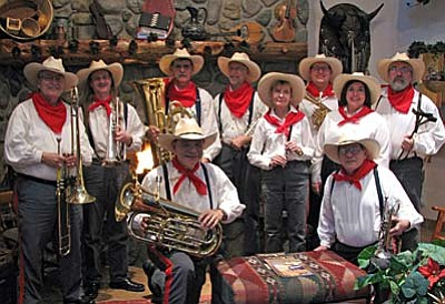 The Territorial Brass will perform at Sharlot Hall Museum on Saturday, April 18, at 4 p.m.  Admission to the outdoor concert $10 per adult and free to Museum members.  (Photo courtesy Dennis McGowan)