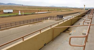The track at Yavapai Downs is likely to remain empty for years. (Matt Hinshaw/The Daily Courier, file photo)