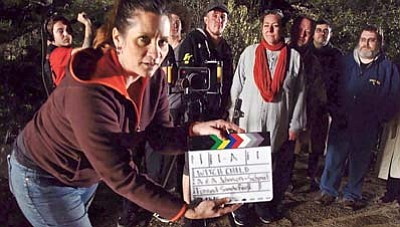 Steve Hollingsworth/Courtesy photo<br>The Burns Unit, from left, Jerod MacDonald-Evoy, Robyn Bryce, Ryker Wells, Forrest Sandefer, Angie Johnson-Schmit, Andrew Johnson-Schmit, Francisco Ortiz y Davis and Sean Souva, plan the largest homegrown movie production in Yavapai County history. (Not pictured: Matt Jackson, Christian H. Smith, Steve Hollingsworth, David M. Chontos and Rachel Soumokil).