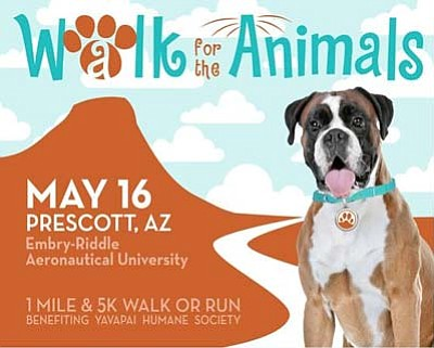 Join our community's most courteous dog walkers at the YHS Walk for the Animals; visit www.yavapaihumane.org/walk2015 to register today!