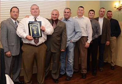 Officers of PVPD's patrol unit, the unit of the year (Courtesy photo)