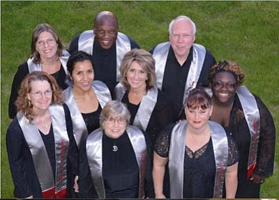 """Courtesy photo<br>The Gospelites will perform Sunday in the congregation's spring concert, """"When Words Fail ... Music Speaks."""" The concert is also a farewell to choir conductor Christopher Eubank."""