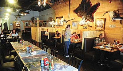 Les Stukenberg/The Daily Courier <br /><br /><!-- 1upcrlf2 -->The Lone Spur Cafe on Gurley Street has remodeled and expanded their seating by 65 to take in the large breakfast and lunch crowds that stop by the restaurant.