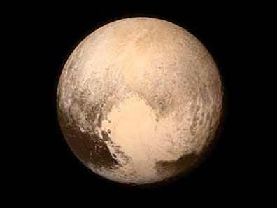 NASA via AP<br> This July 13, 2015 image shows Pluto, seen from the New Horizons spacecraft. The United States is now the only nation to visit every planet in the solar system. Pluto was No. 9 in the lineup when New Horizons departed Cape Canaveral, Florida, on Jan. 19, 2006.