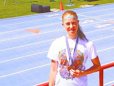 Courtesy photo<br> Prescott High track and field standout Makennah Mills qualified for the USATF National Junior Olympic Championships in the 2,000-meter steeplechase and the 1,500-meter run.