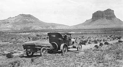 Courtesy/Sharlot Hall<br> The Melville's 1927 road trip to First Mesa, Hopi Reservation.
