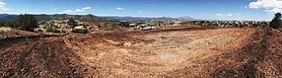 Large construction equipment has been clearing the footprint for the Touchmark at The Ranch development in Prescott. (Les Stukenberg/The Daily Courier)