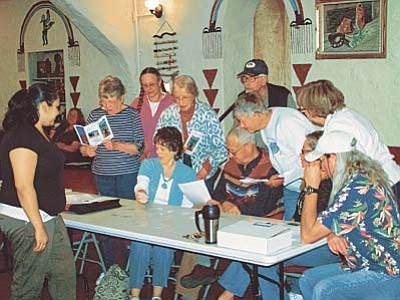 Courtesy photo<br>Volunteers at the Smoki Museum learn Native American languages.