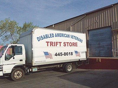 The Disabled American Veterans TRIFT STORE truck is not a misspelling – at least not anymore. (The Daily Courier, file photo)