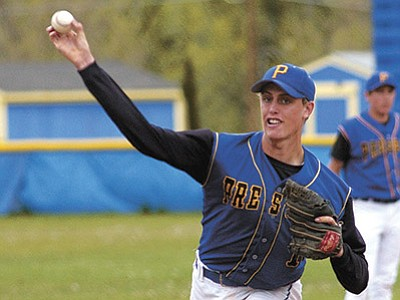 Jo. L. Keener/The Daily Courier, file<br> Former Prescott High star baseball and basketball player Dillon Baird (2004-06), shown here during his playing days for the Badgers, will be inducted into the PHS Athletic Hall of Fame's Class of 2015 on Friday, Aug. 28.