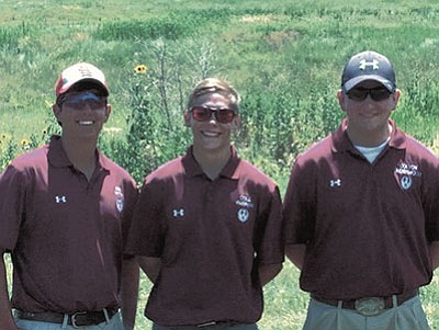 Brian Witty/Courtesy photo<br> From left, Joseph Witty, Cole Parrish and Colton Underwood at the Junior Olympic SCTP Nationals at Colorado Springs, Colorado, in late July.