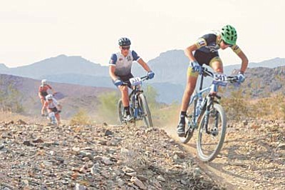 Les Stukenberg/Courier file<br /><br /><!-- 1upcrlf2 -->Prescott High varsity mountain biker Andrew Mull, shown here racing in 2014, finished sixth in the Boys D2 Varsity category at the first race of the Arizona High School Cycling League's 2015 season Sept. 13 in Flagstaff.<br /><br /><!-- 1upcrlf2 -->