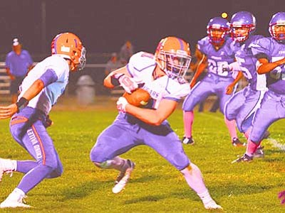 Vyto Starinskas, Verde Independent/Courtesy photo<br> The Chino Valley High Cougars faced off against the Camp Verde Cowboys on Friday night, but could not extend their winnining streak. The Cougars lost 26-12.