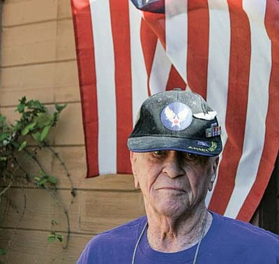 Cliff Hunt of Prescott was a gunner on a B-17 bomber in World War II, flying more than 50 missions over Germany, and later served in a psychology unit during the Korean War. (Jason Wheeler/The Daily Courier)