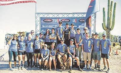 Courtesy/Mitzi Hammes<br> The 2015 Prescott High mountain biking team finished as the state runner-up in the Arizona High School Cycling League after a strong showing in the season's final race at White Tank Regional Park in Waddell on Sunday, Nov. 8. Forty teams compete in the league, which is sponsored by the National Interscholastic Cycling Association, or NICA.