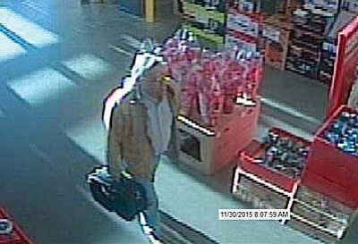 Police released this security-camera photo of a man they believe is related to the bomb threat. (Courtesy photo)