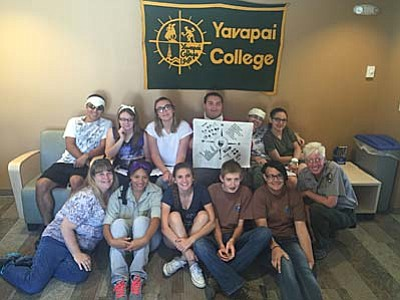 Courtesy<br>Yavapai College student activities coordinator Jeremy Poehnert with some of this year's Lead students