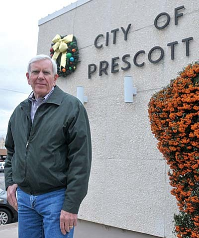 Harry Oberg was sworn in as the new mayor of the City of Prescott on Nov. 24.