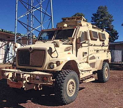 Courtesy photo<br>The Prescott City Council voted to accept this International Navistar MaxxPro Mine Resistant Ambush Protected vehicle from the federal government.