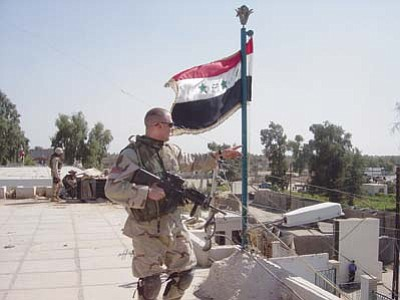 As a U.S. Army Ranger, Dr. Cameron Dow was stationed in Baghdad, Iraq, between 2002 and 2006. (Courtesy photo)