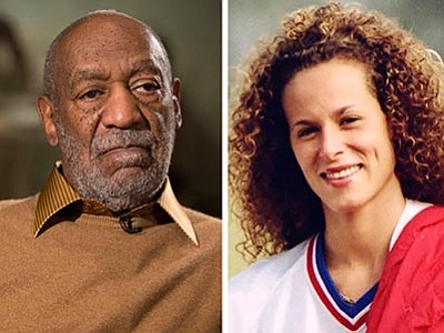 AP Photo/Evan Vucci, left, and Ron Bull/The Toronto Star/The Canadian Press via AP, right<br> In this combination of file photos, entertainer Bill Cosby pauses during an interview in Washington on Nov. 6, 2014, and Andrea Constand poses for a photo in Toronto on Aug. 1, 1987. Cosby was charged Wednesday, Dec. 30, 2015, with drugging and sexually assaulting Constand at his home in January 2004.