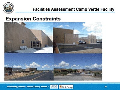 A slide from the Yavapai County Board of Supervisors Jail Assessment PowerPoint presentation.