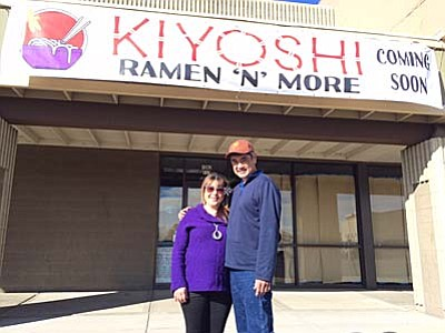 Courtesy photo<br /><br /><!-- 1upcrlf2 -->Guy and Celeste Agena said their new restaurant - Kiyoshi Ramen 'N' More, located in the Safeway shopping center off Willow Creek Road in Prescott - will be open for business in mid-to-late February.