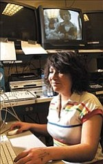 Courier/Jo. L. Keener Hannah Kah Alvarez works at her editing station at Bradshaw Mountain High School film class. Alvarez garnered the top two film awards statewide.