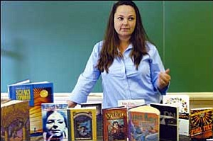 AP Photo / Gary C. Knapp Charlene Haviland, a science teacher at Northside Middle School in Norfolk, Va., talks in her classroom about her plans to teach a science class based on the popular Harry Potter children's book series.