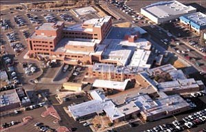 Courier/Les Stukenberg Yavapai Regional Medical Center, from above, appears in this March 2004 file photo.