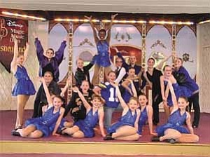 RhythMotion Dance Company performs ³Nicest Kid in Town² March 14 at Disneyland in Anaheim, Calif. The routine is the finale in a 30-minute show the 20 members of the dance company from The Dance Studio in Prescott put on during two performances at the Disney theme parks March 13 and 14.  Courtesy photo