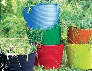 Garden totes are an indespensible part of any gardener¹s tools. They now come in a variety of colors to suit any gardener¹s taste.  Courtesy photo