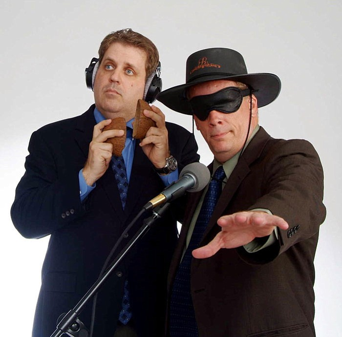"COURTESY PHOTO --- Brian Nissen and Mark Arnett mix nostalgia and topical comedy along the format of old-time radio in ""Arpaiopalooza."""