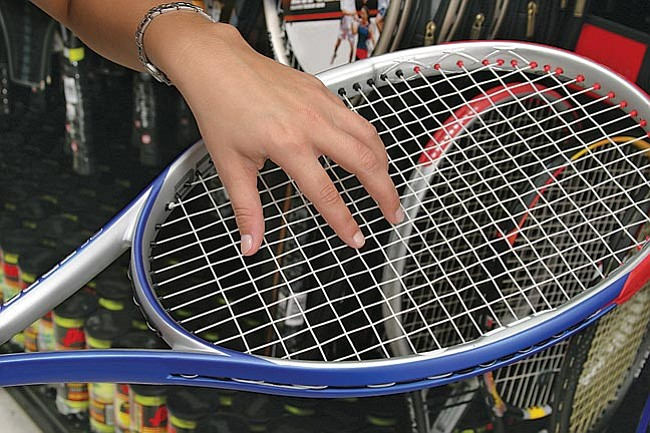 Courtesy Metro Graphics<br> When getting your used racquet strung, don't forget to check if the bumper-guard and/or grip needs replacing. That will protect your racquet's frame and give you a solid grip for your shots.