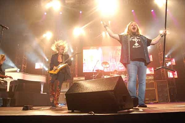 The Daily Courier/Lorin McLain Lynyrd Skynyrd played to a packed Tim's Toyota Center Saturday night.