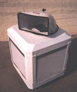 An evaporative cooler.