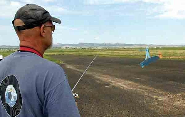 Jerry Wilson of Chino Valley prepares to fly his aircraft Saturday morning at the airstrip near Perkinsville Road.