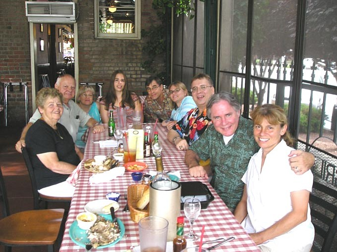 The Daily Courier/Joanne C. Twaddell --- Here is a bunch of my family at the Gurley Street Grill.