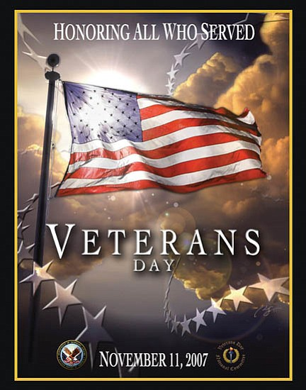 Courtesy/Bob Stump VA Medical Center   Each year, the Veterans Administration chooses an image to be the official logo for Veterans Day observances. This year's winning graphic, above, was submitted by Dr. Richard Serroa of Boston. The VA chose Serroa's entry from more than 60 submissions.