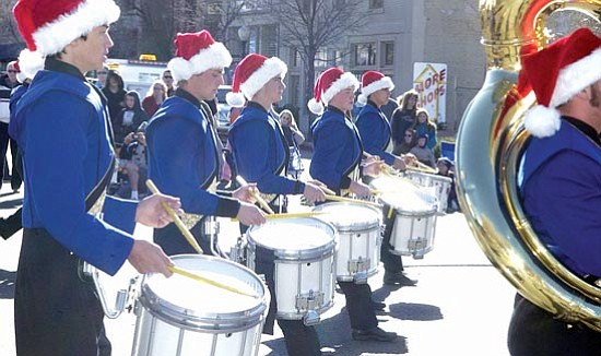 The Prescott High School Marching Band performs in the 24th Annual Christmas Parade in downtown Prescott Dec. 2, 2006.