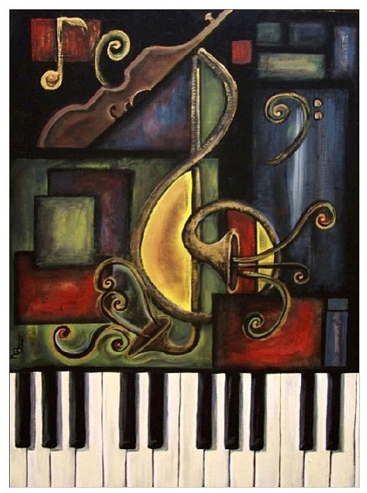 """Music Abstract,"" an acrylic on canvas, qualified Kathy Borst as a semi-finalist in ""The Next Great American Artist"" contest. COURTESY"