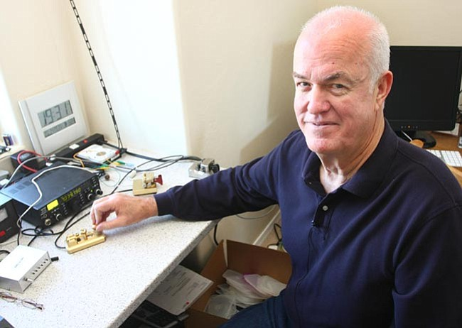 The Daily Courier/Les Stukenberg<BR> Chuck Adams of Prescott is one of the fastest listeners and translators of Morse code in  the country.