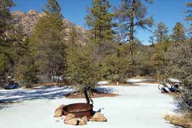 The Daily Courier/Joanna Dodder<br> This is one of the campsites at the Granite Group Campground, which Prescott National Forest officials are proposing to close.