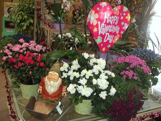 Courtesy<br> A lot of women enjoy receiving flowers on Valentine's Day.