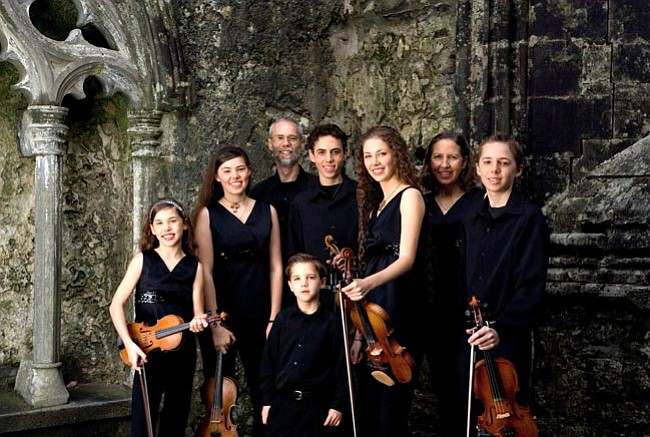 Courtesy<br> Celtic Spring made up of Greg and Mary Wood and their six children, are fiddle players and championship dancers.